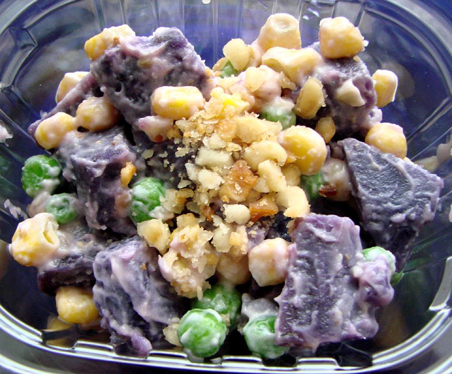 Okinawan Sweet Potato Macadamia Nut Salad