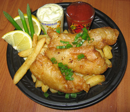 Kalihi kai eats nico 39 s pier 38 tasty island for Beer battered fish and chips