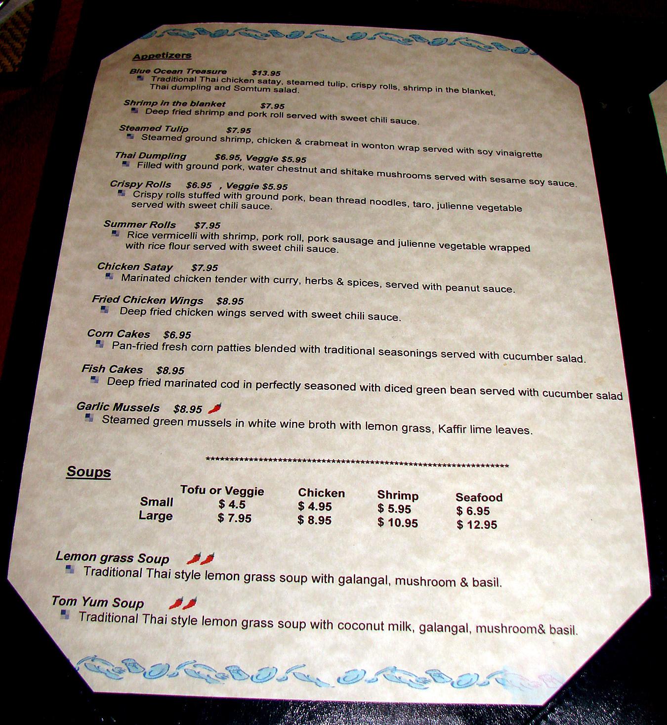 Lunch At Blue Ocean Thai Restaurant Pomai Test Blog