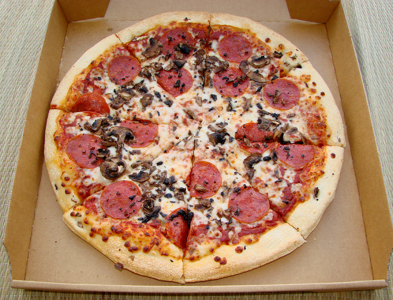 A large pizza is 14 inches in diameter, or about square inches A PANalicious (rectangular) pizza is x 12 inches, or about square inches A PANormous pizza is two PANalicious pizzas, with a total area of about square inches.