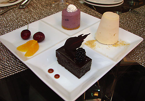 Time for the finale, starting with Stage' Trio dessert…