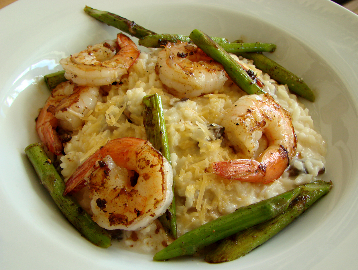 shrimp and roasted asparagus shrimp asparagus risotto simple risotto ...