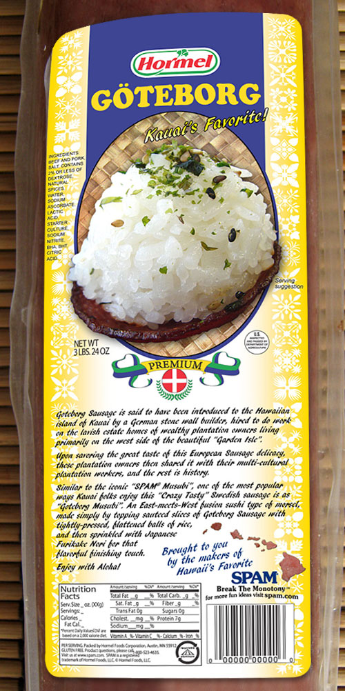 Goteborg Musubi label design Kauai