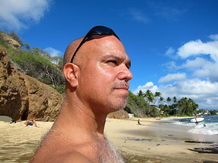 Pomai 170 lbs. at the beach