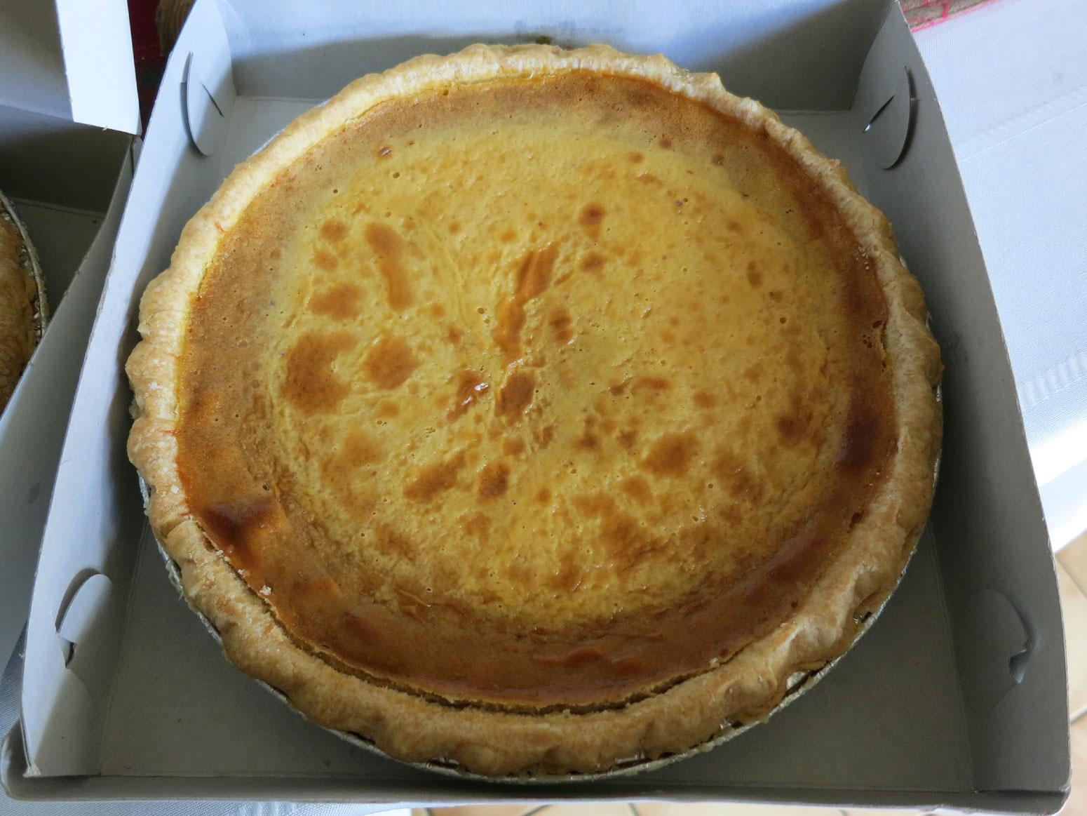 Lee's Bakery (King Street, Chinatown Honolulu) Pumpkin-Custard Pie