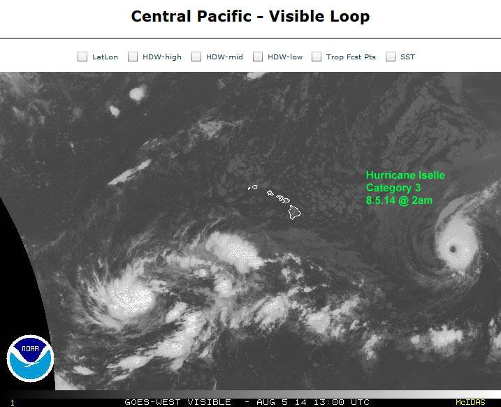 Hurricane Iselle 8.05.14 @ 2am - Sat