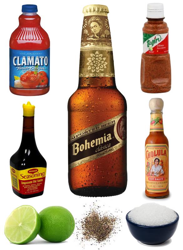 Michelada ingredients. Photo courtesy of hellosplendor.com