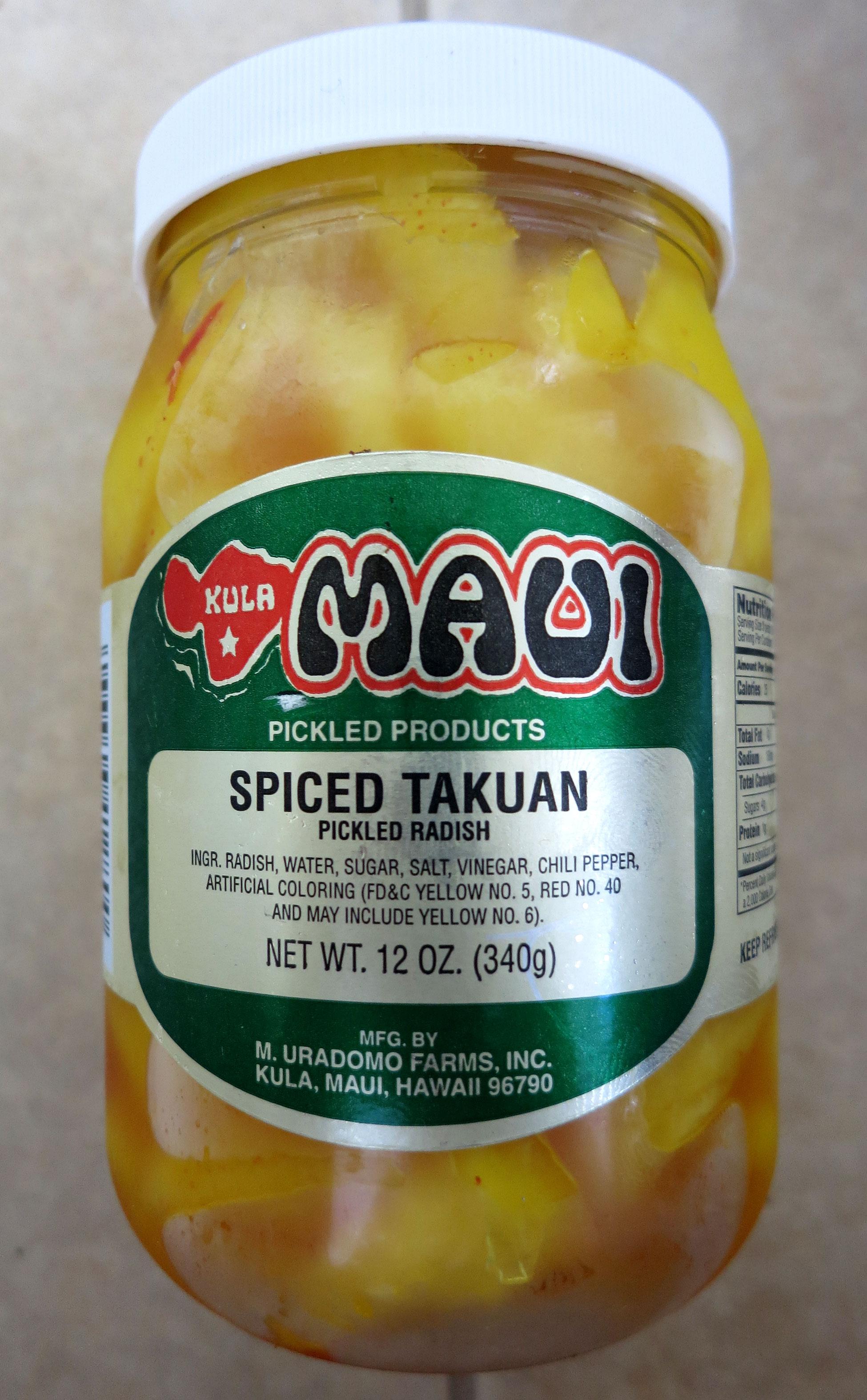 Spiced Maui Takuan