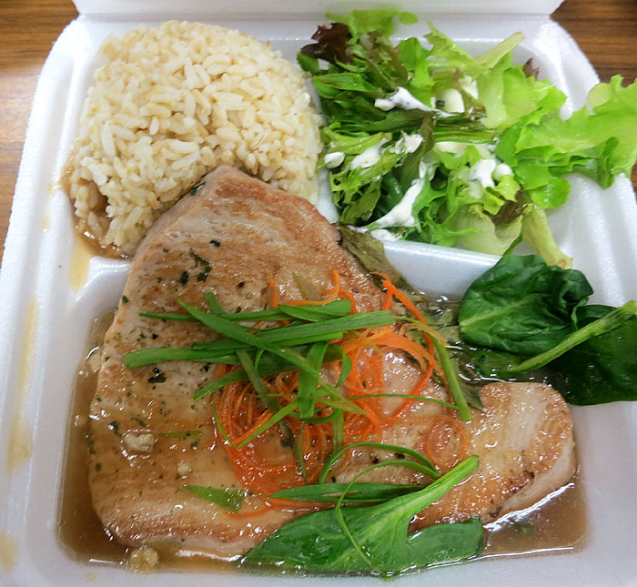 ... Kitchen: Grilled Ahi with Ginger Green Onion Sauce and Tossed Salad