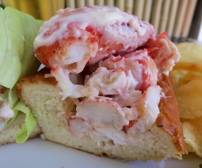 """Maine Style Lobster Roll """"money shot"""""""