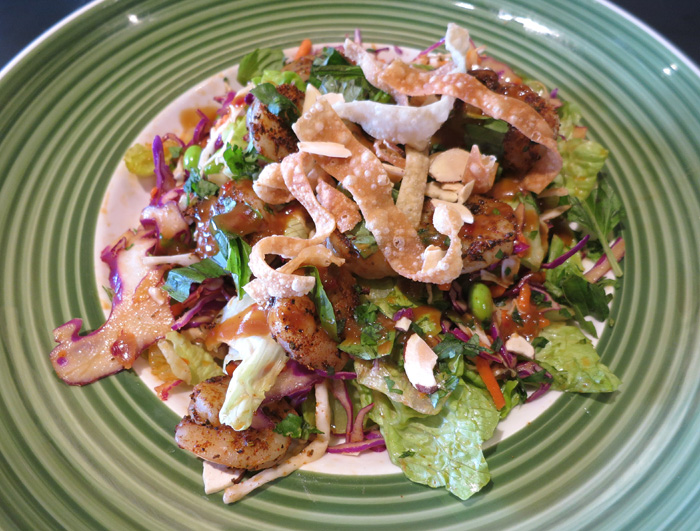 and an oriental salad blend are tossed in a chili lime vinaigrette ...