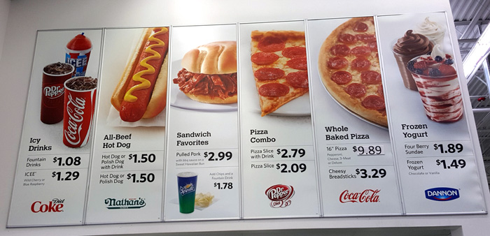 Sam S Club Food Court Menu